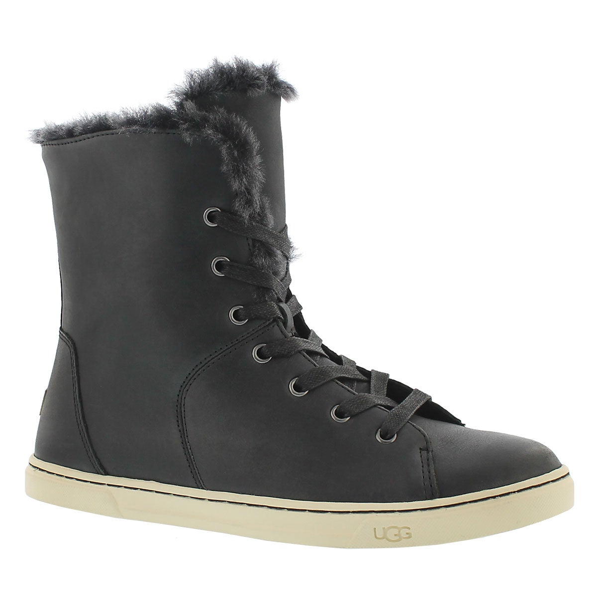 Women's CROFT LUXE QUILT black fold down boots