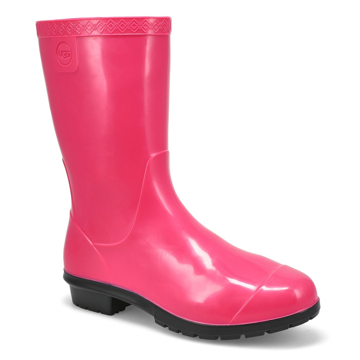 Girls' RAANA diva pink waterproof rain boots