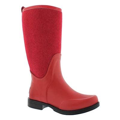 UGG Australia Women's REIGNFALL lipstick red tall rain boots