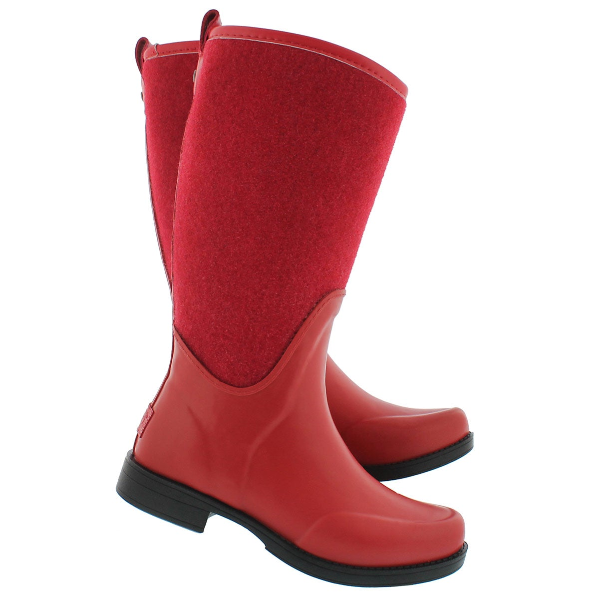 Lds Reignfall lipstick red tall rainboot
