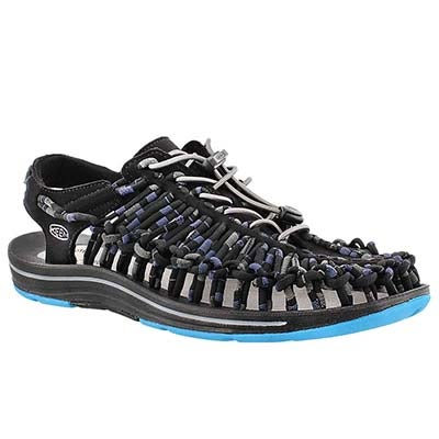Keen Men's UNEEK STRIPES blue fisherman sandals