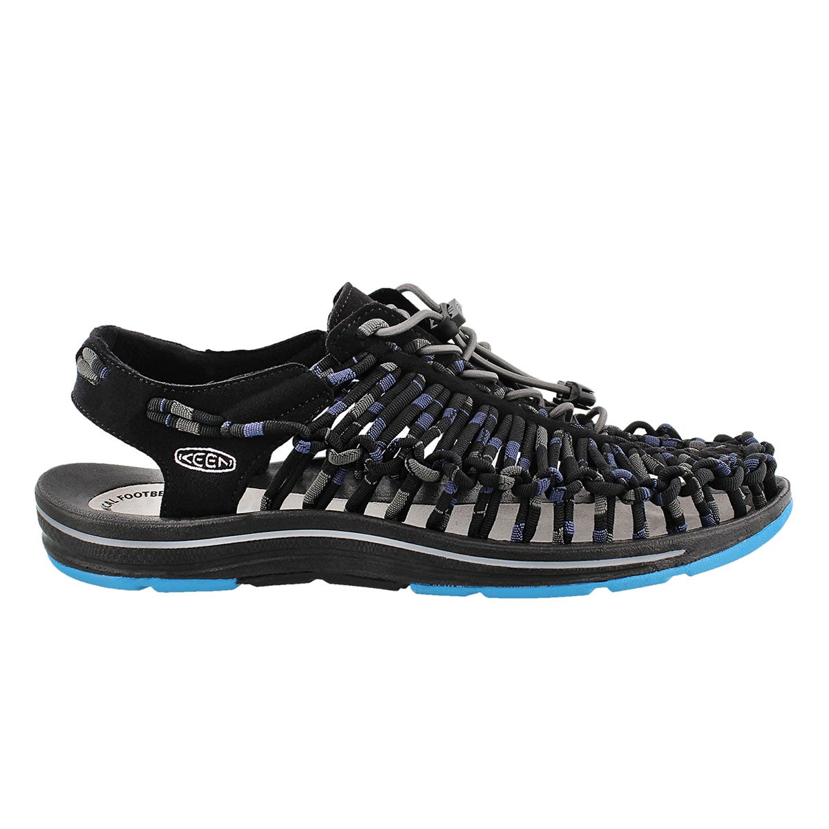 Mns Uneek Stripes blue fisherman sandal