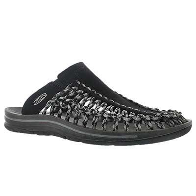 Mns Uneek Slide blk/gry casual sandal