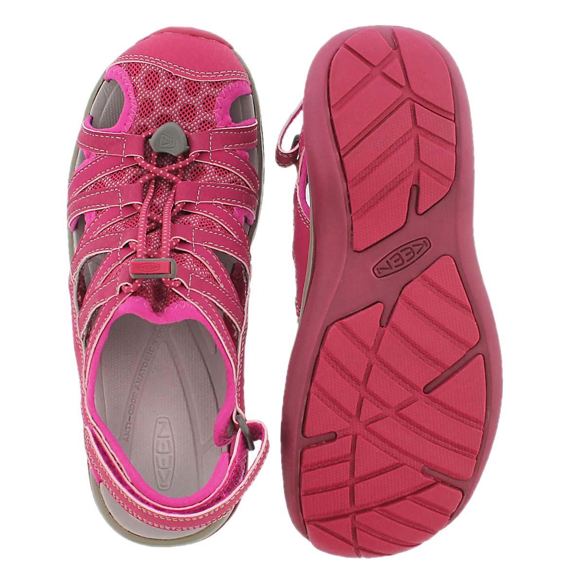 Sandale sport Sage, sangria, femmes