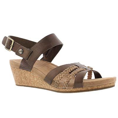 UGG Australia Women's SERINDA mole ankle strap wedge sandal