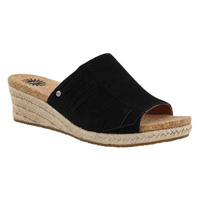 UGG Australia Women's DANES black wedge sandals