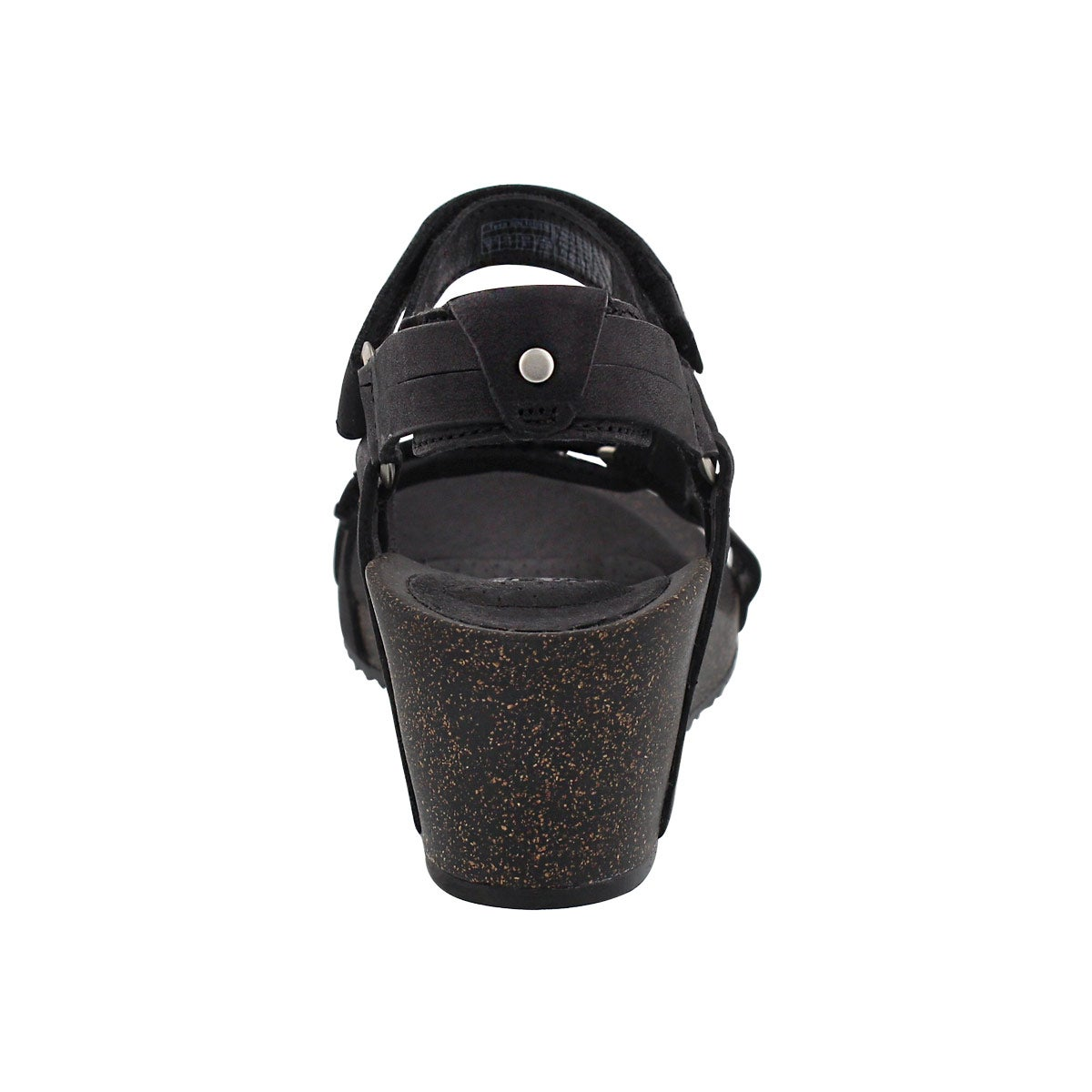 Lds Ysidro Universal blk wedge sandal