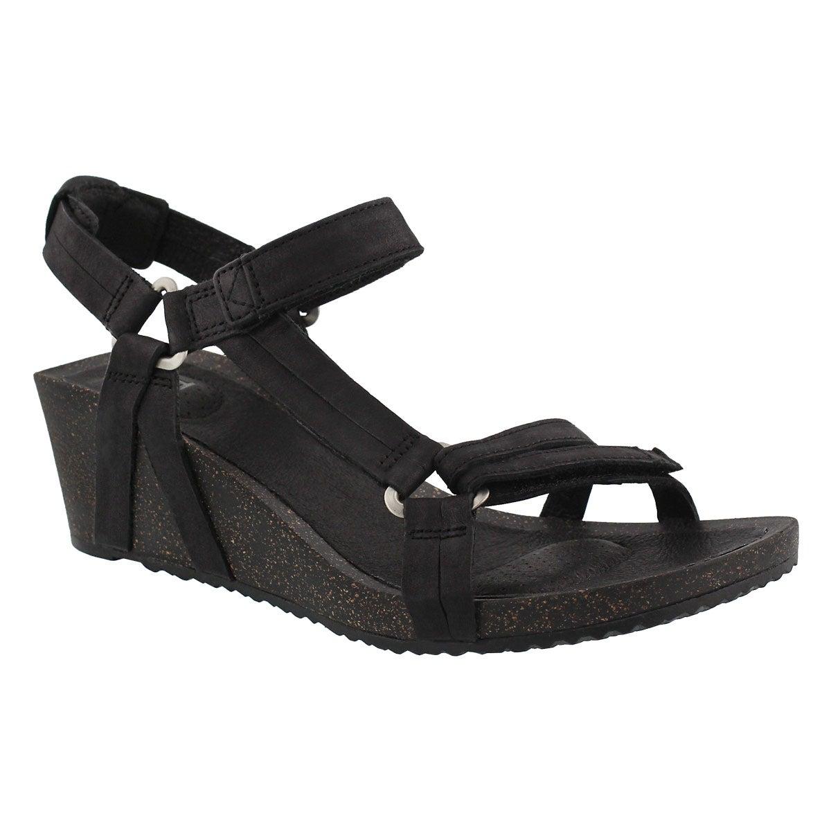 Women's YSIDRO UNIVERSAL black wedge sandals