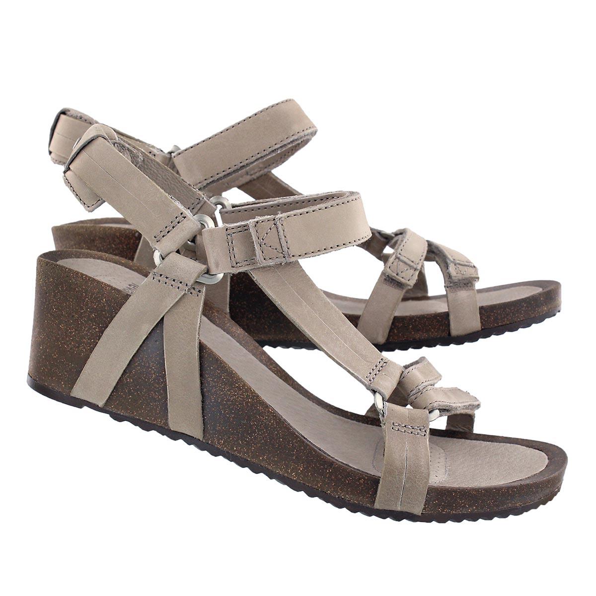 Lds Ysidro Universal taupe wedge sandal