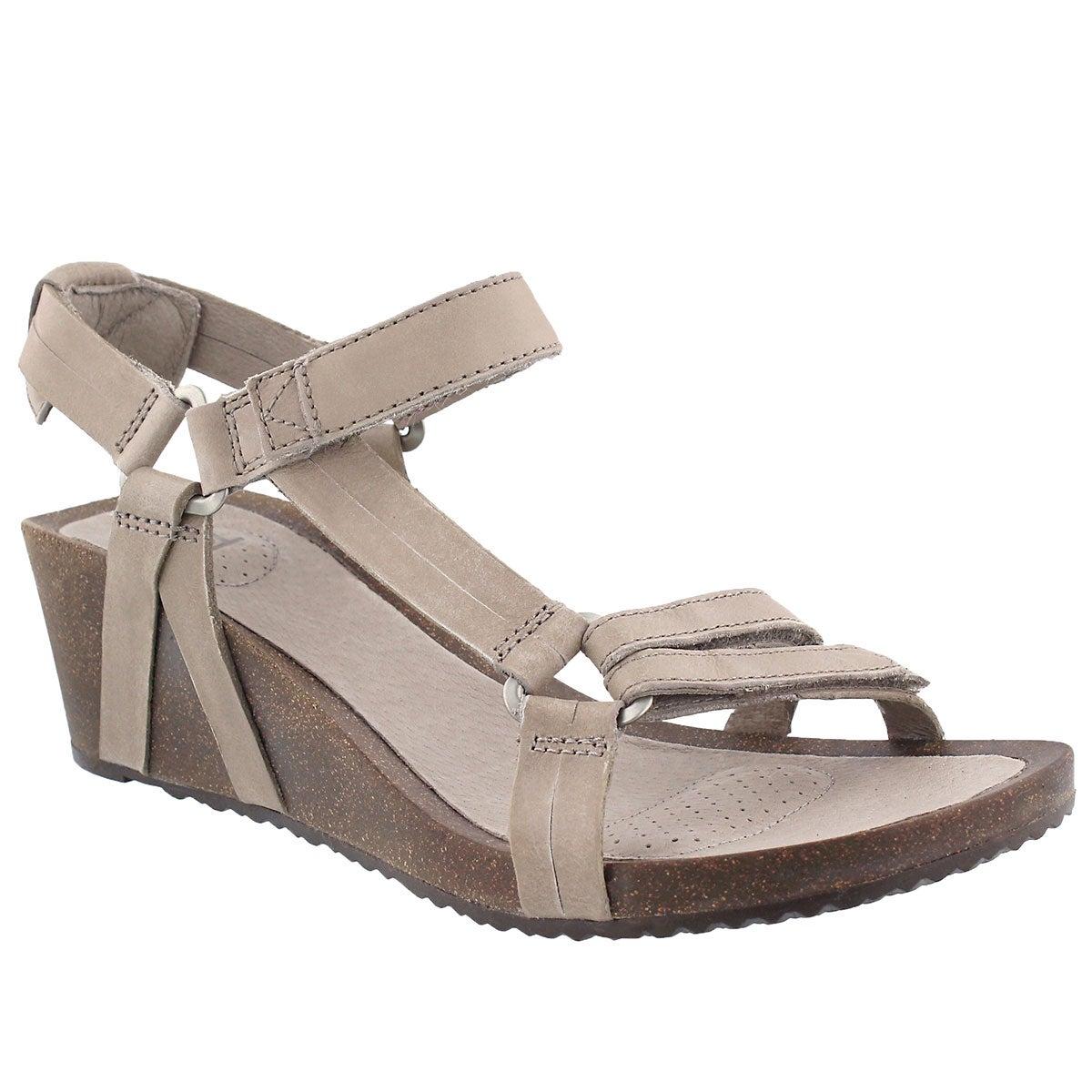 Women's YSIDRO UNIVERSAL taupe wedge sandals