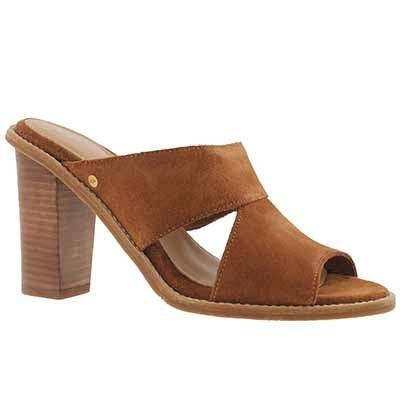 UGG Australia Women's CELIA chestnut slide dress sandals