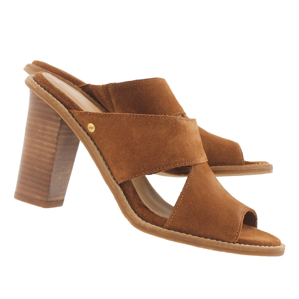 Lds Celia chestnut slide dress sandal
