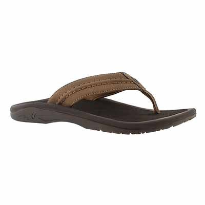 OluKai Men's HOKUA tan thong sandals