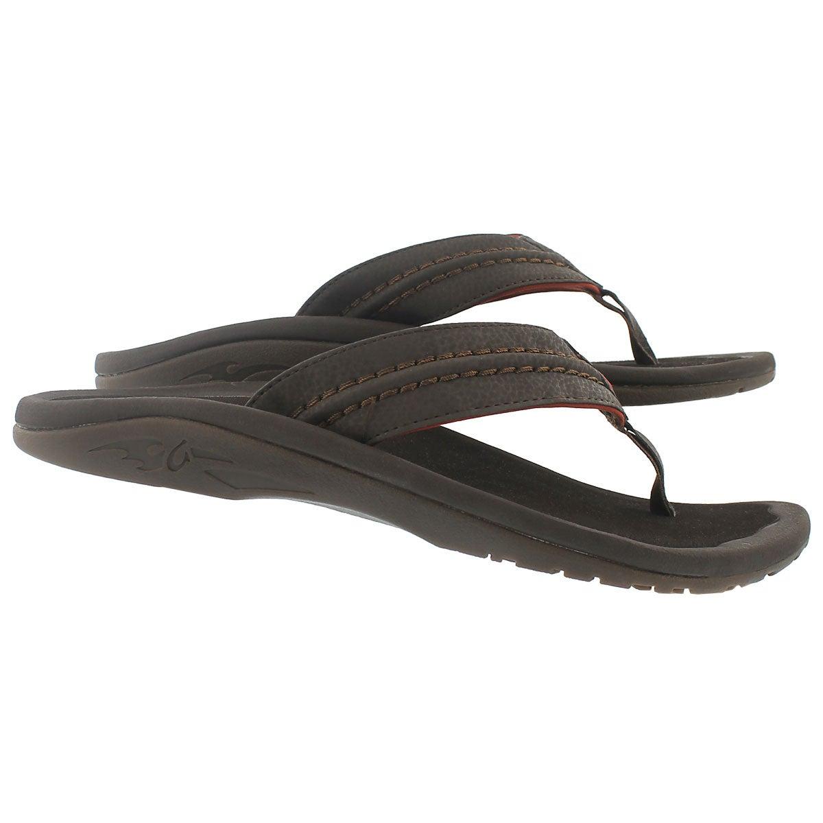 Mns Hokua dark java thong sandal