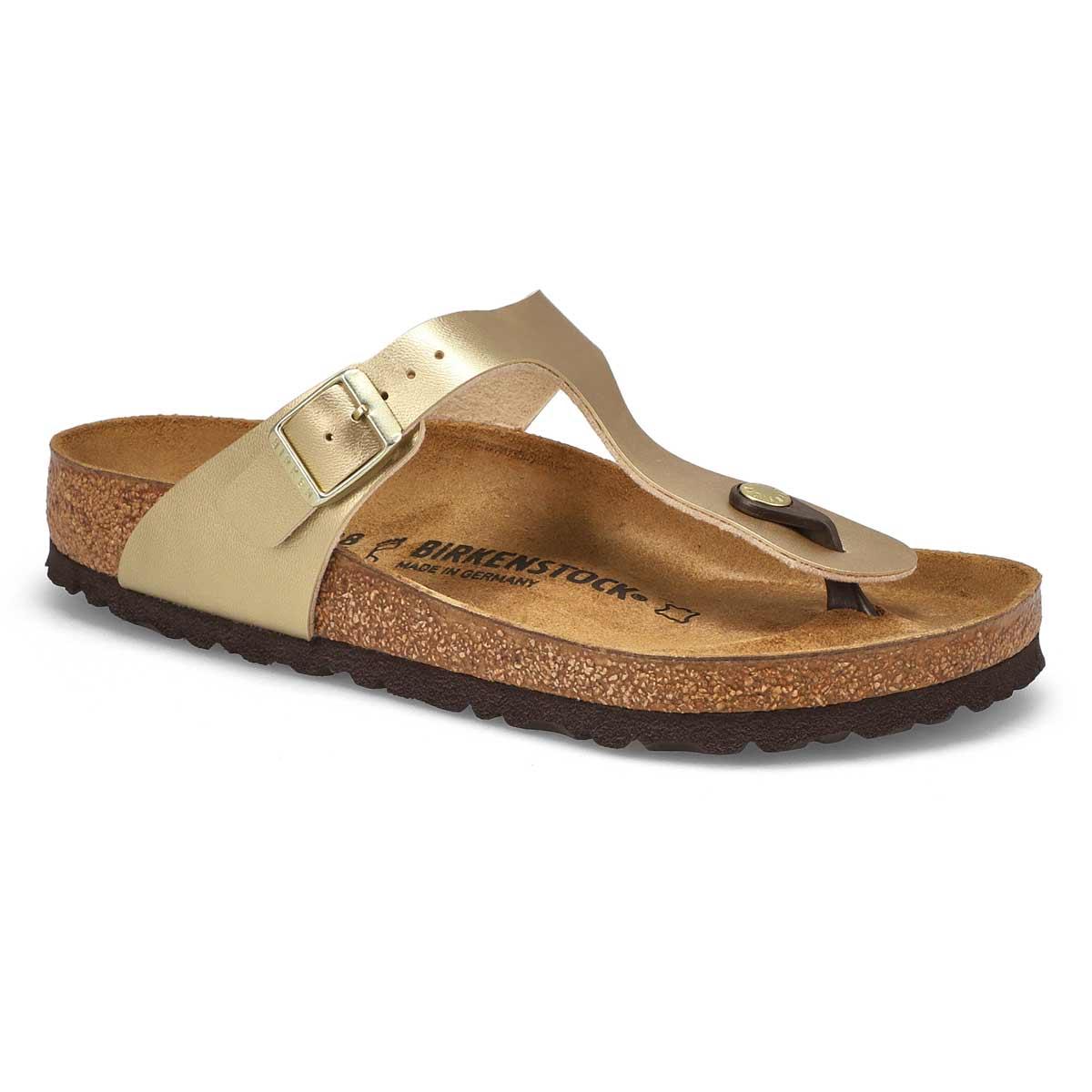 Lds Gizeh BF gold thong sandal