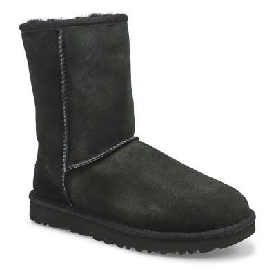 UGG Australia Women's CLASSIC SHORT II black sheepskin boots