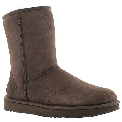 Lds Classic Short II choc sheepskin boot