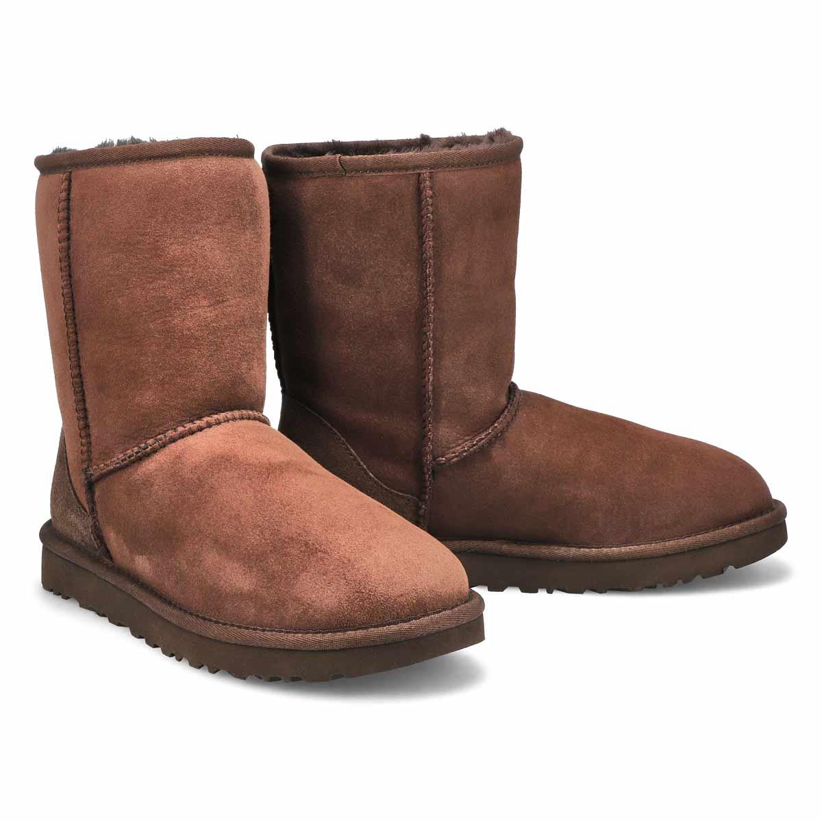 Lds Classic Short II choc sheepskin boot