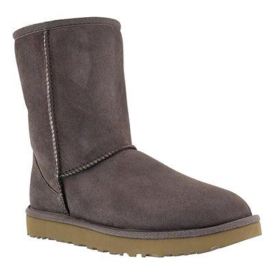 UGG Australia Women's CLASSIC SHORT II grey sheepskin boots