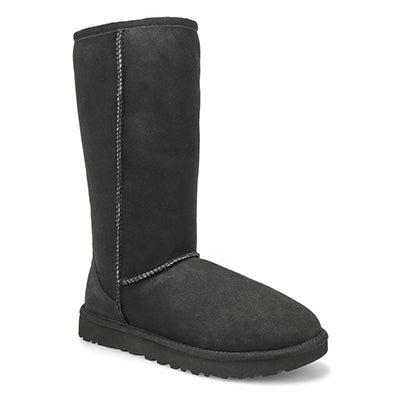 UGG Australia Women's CLASSIC TALL II black sheepskin boots