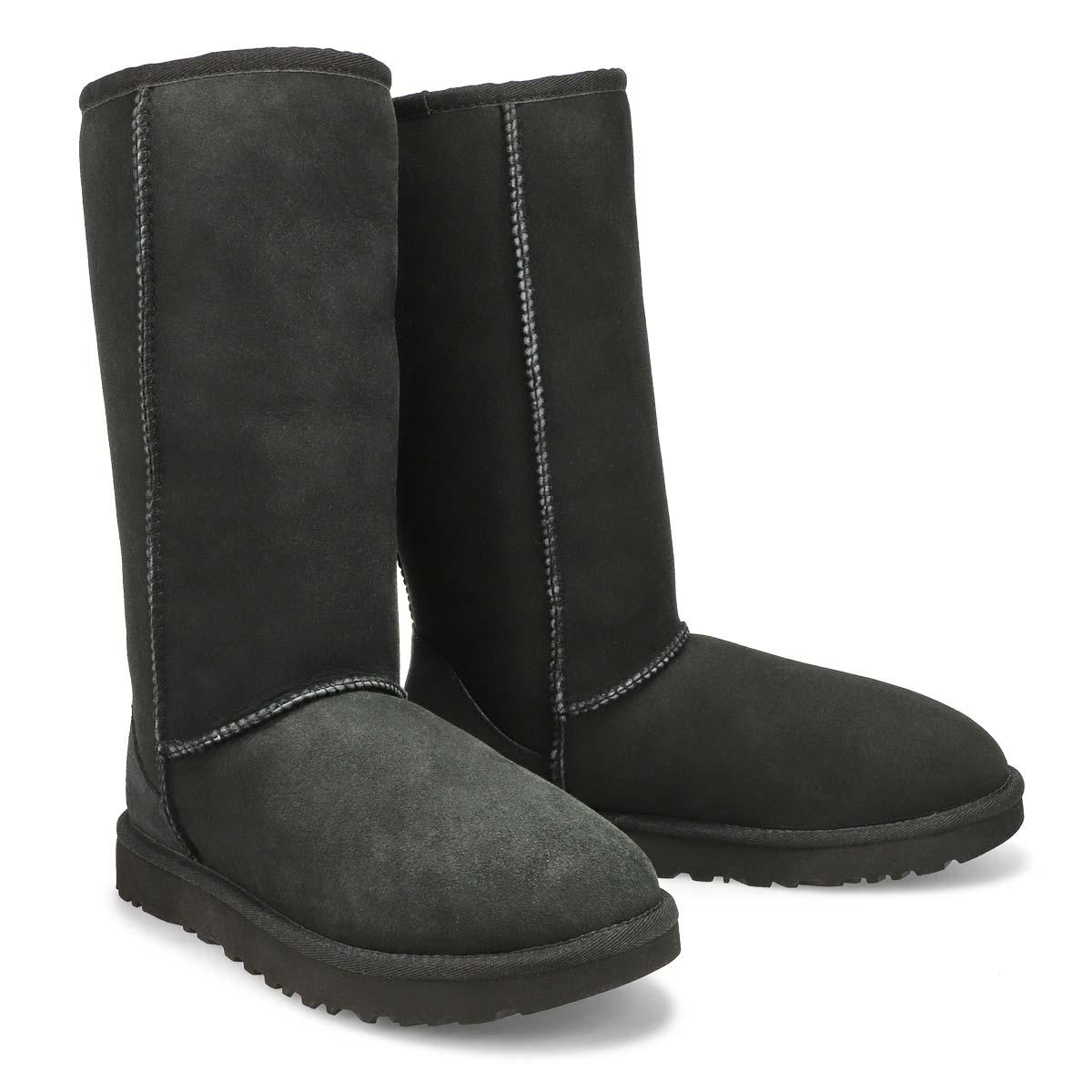 Lds Classic Tall II black sheepskin boot