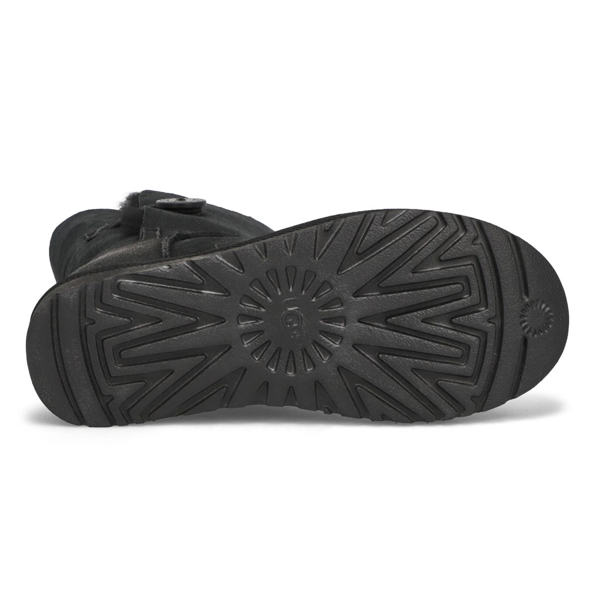 Lds Bailey Button II blk sheepskin boot