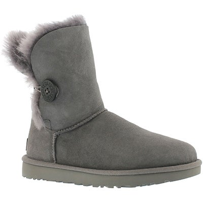UGG Australia Women's BAILEY BUTTON II grey sheepskin boots