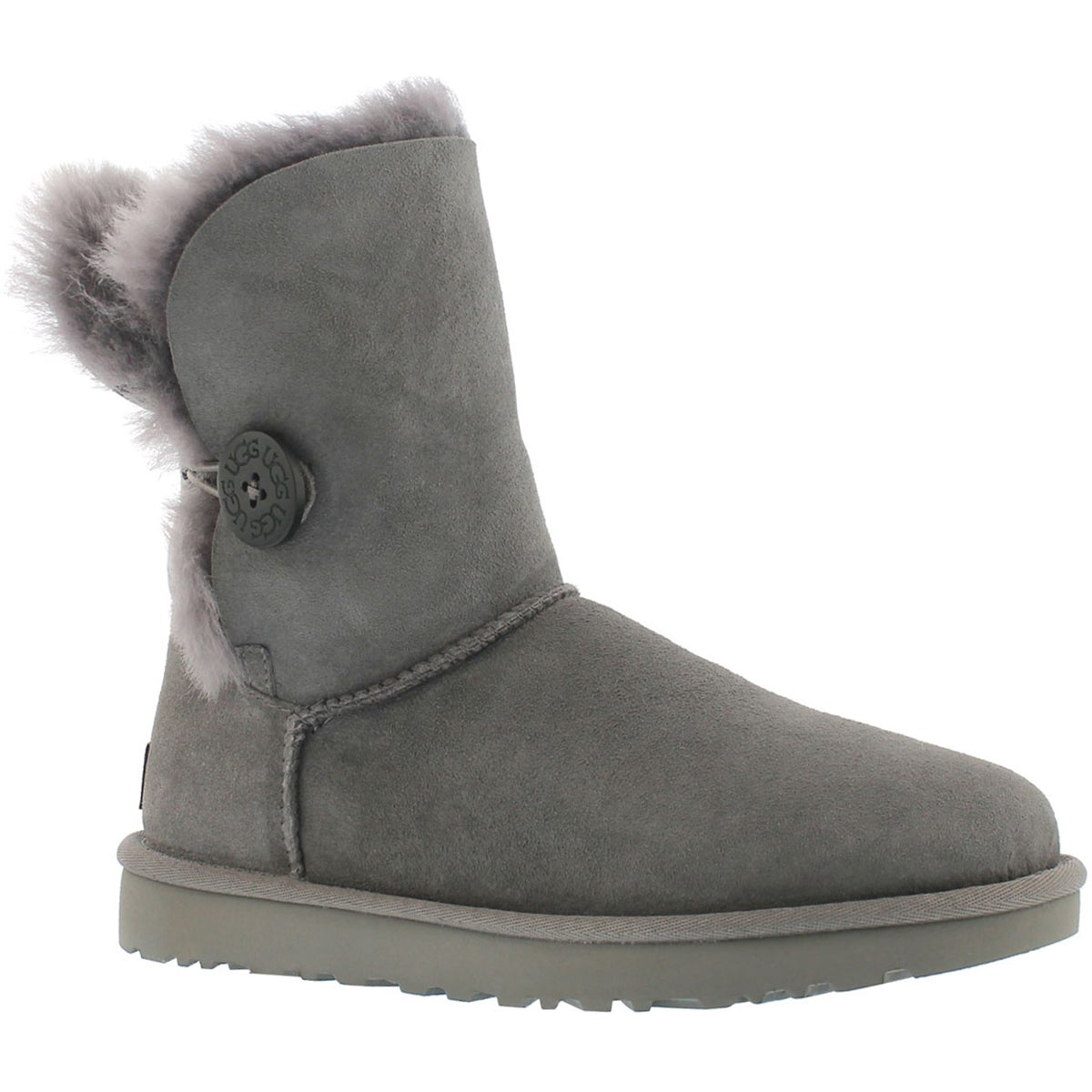 Women's BAILEY BUTTON II grey sheepskin boots