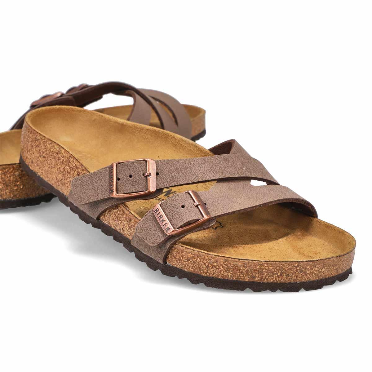 Lds Yao mocha 2 stap sandal