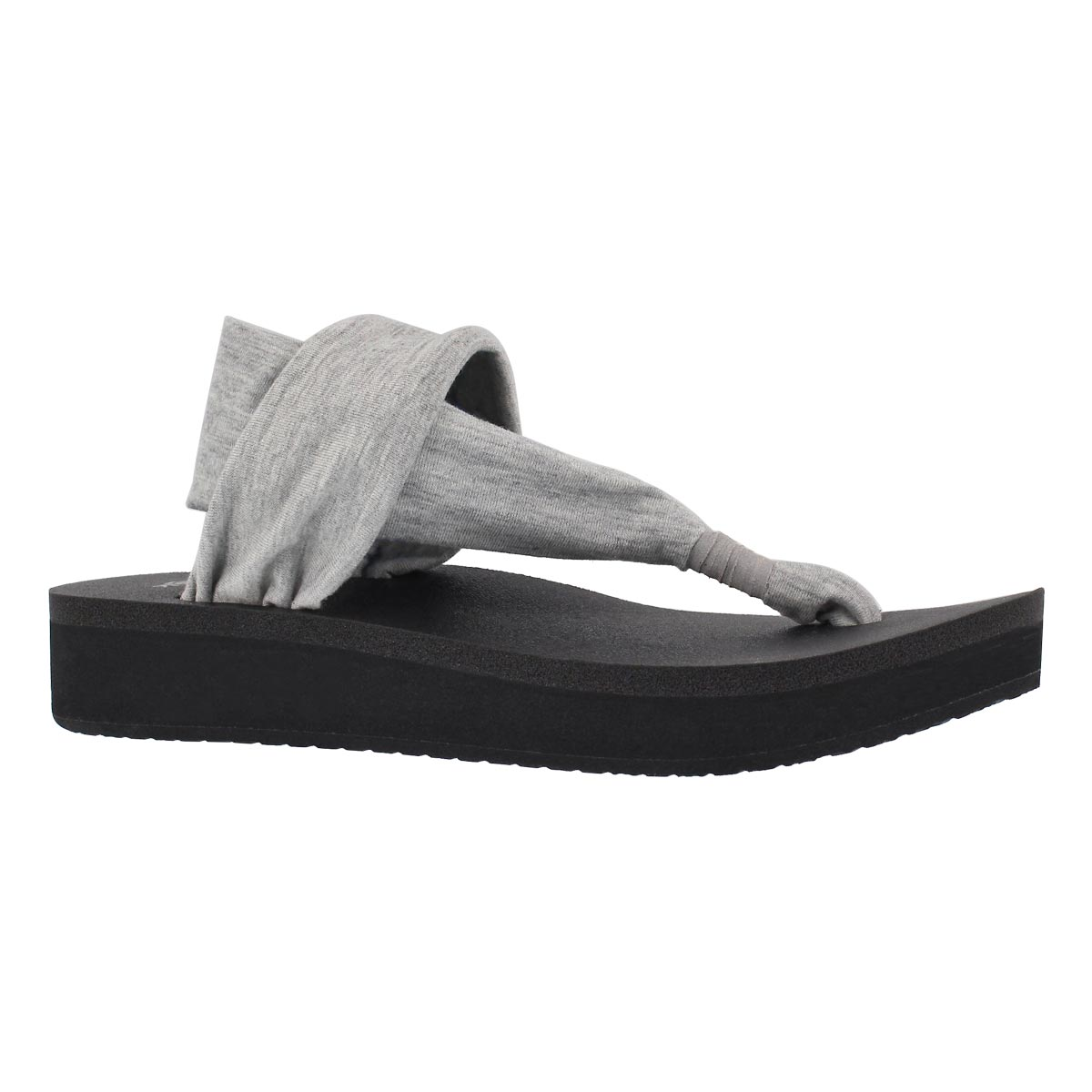 Women's YOGA SLING grey thong wedge sandals