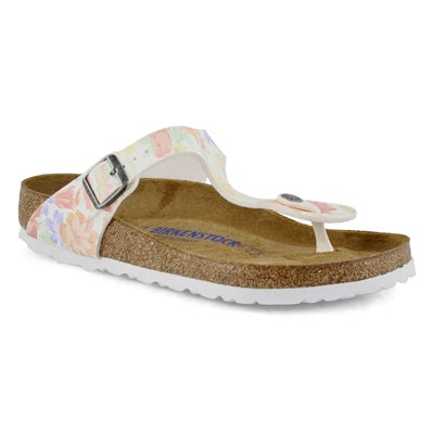 Lds Gizeh Soft BF flower/wht thong sndl