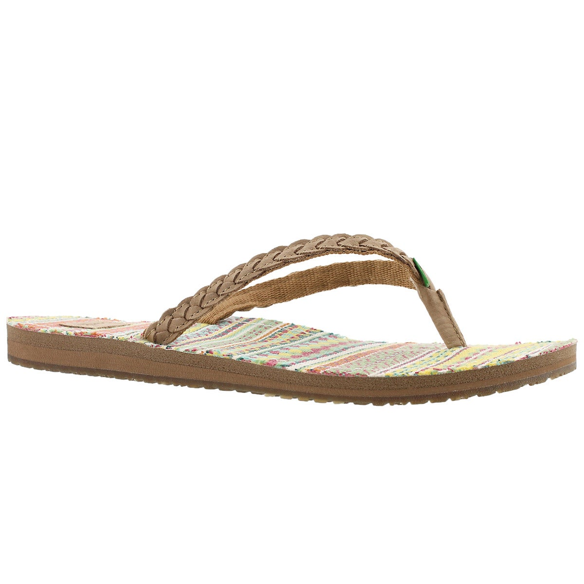 Women's YOGA PONCHO VIVA sand/citrus flip flops