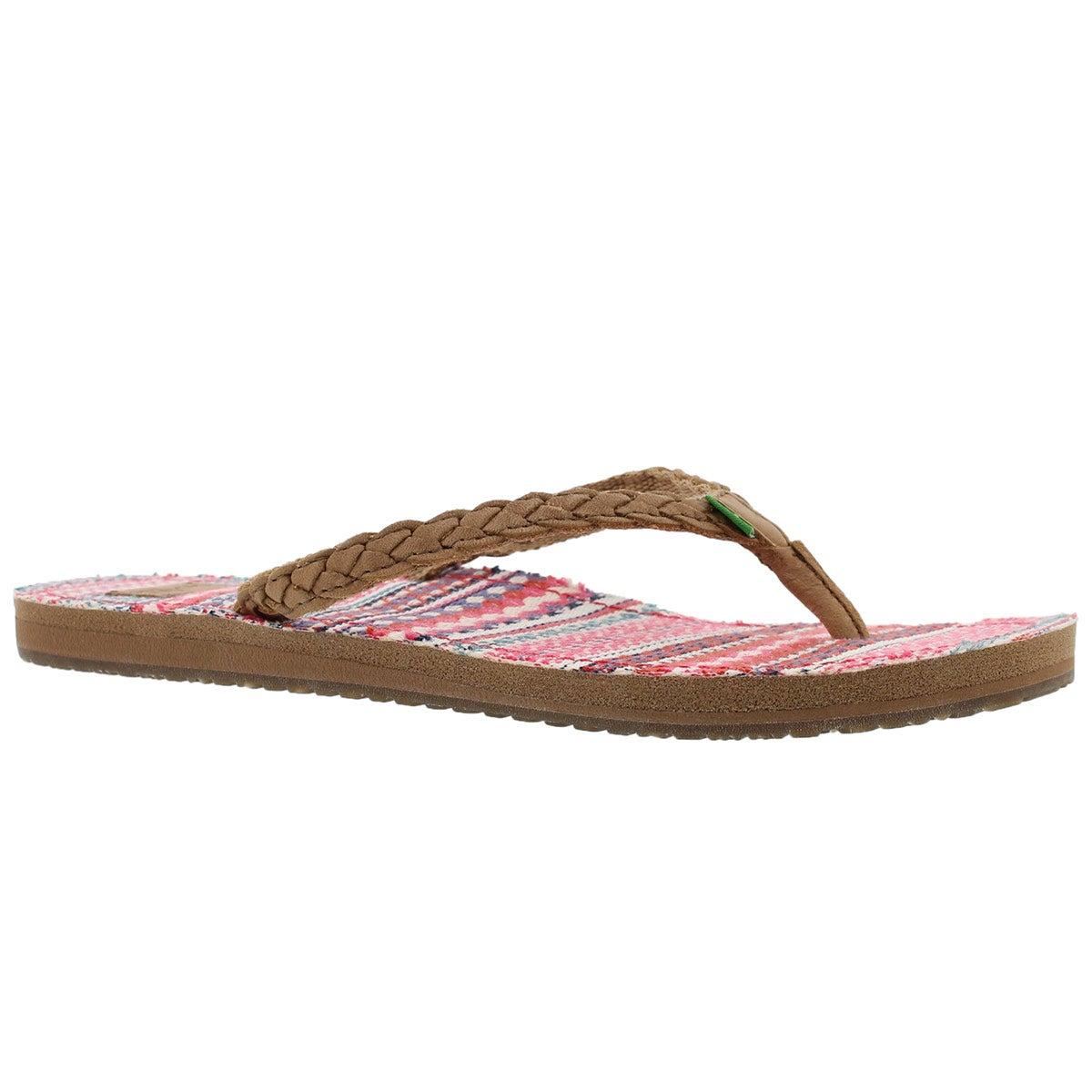 Women's YOGA PONCHO VIVA tobbaco/rasp flip flops