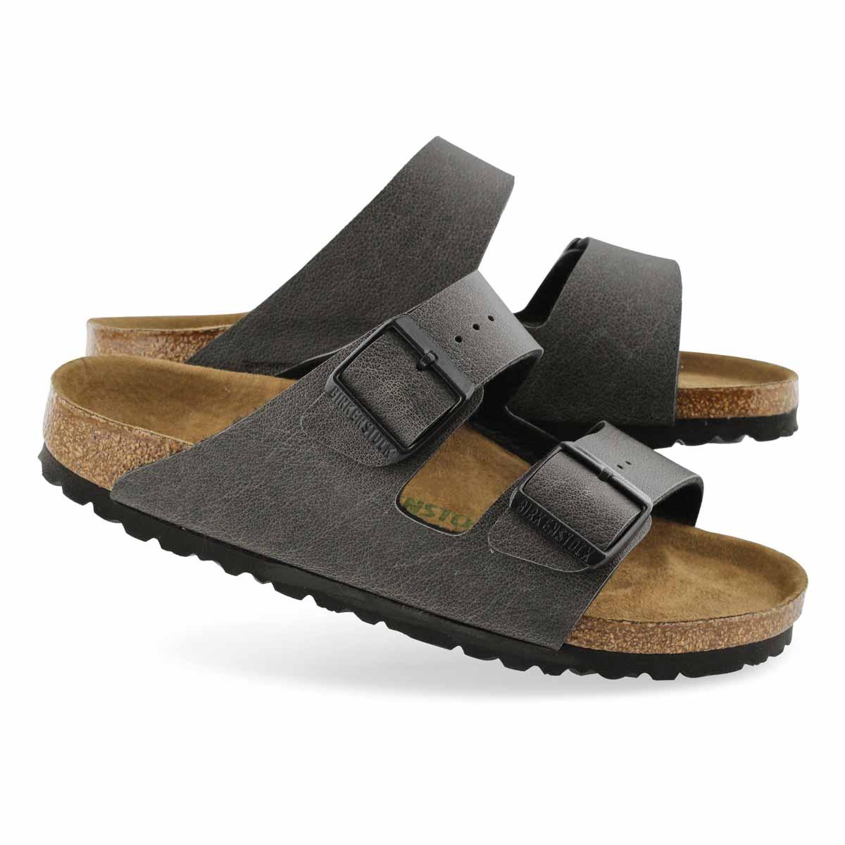 Lds Arizona Vegan anthrcite slide sandal