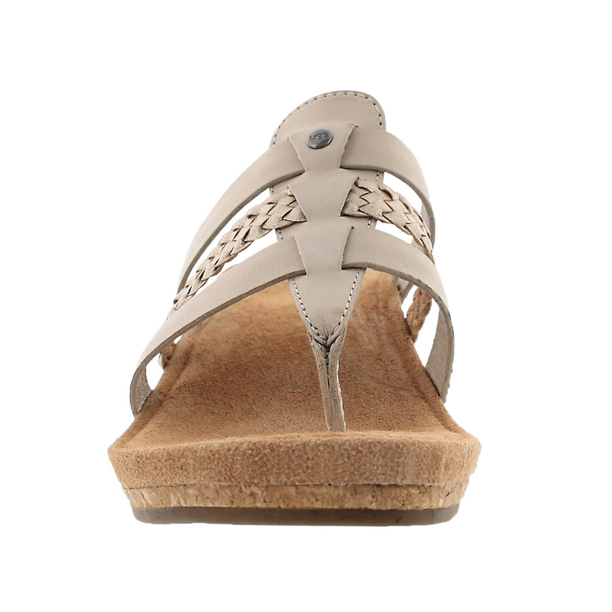 Lds Maddie horchata wedge thong sandal
