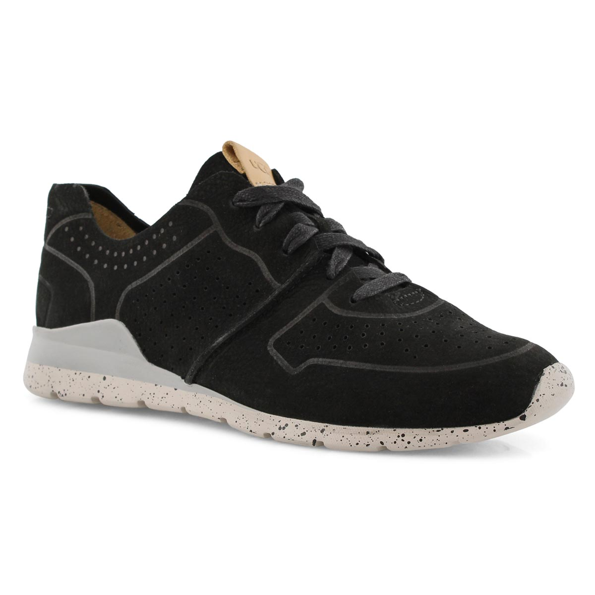 Lds Tye black lace up casual sneaker