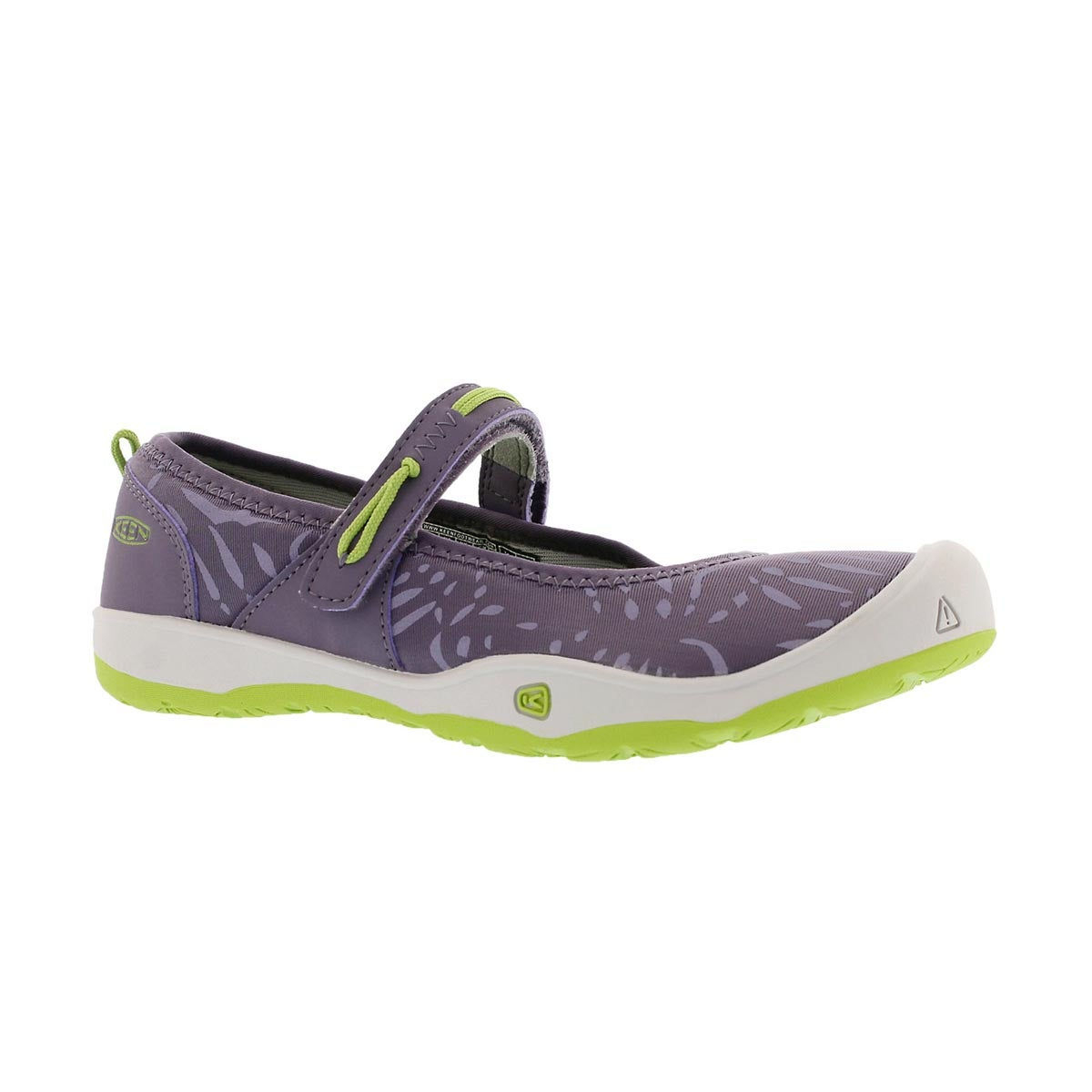 Grls Moxie purple/green casual mary jane