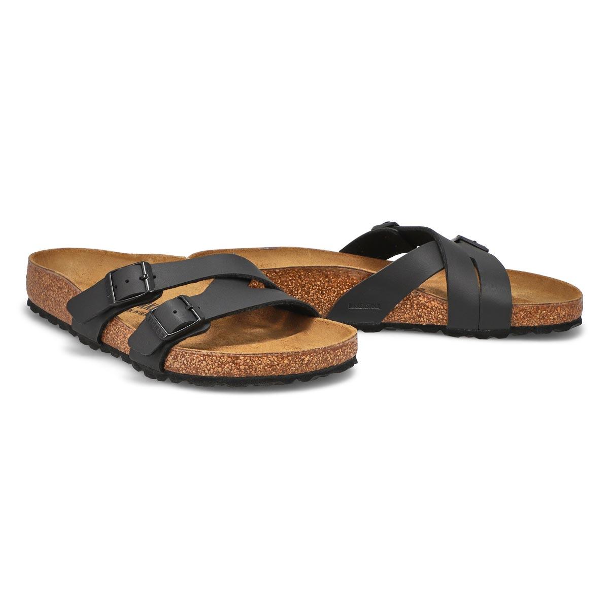Lds Yao black 2 stap sandal