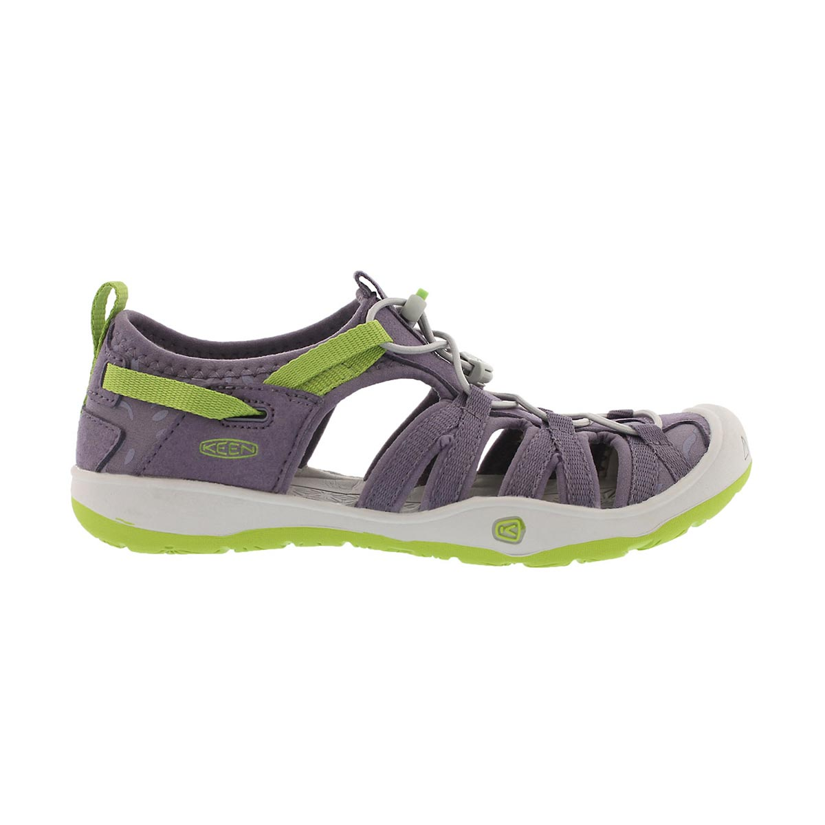 Grls Moxie purple/green fisherman sandal