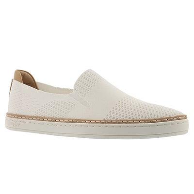 Lds Sammy white casual slip on shoe