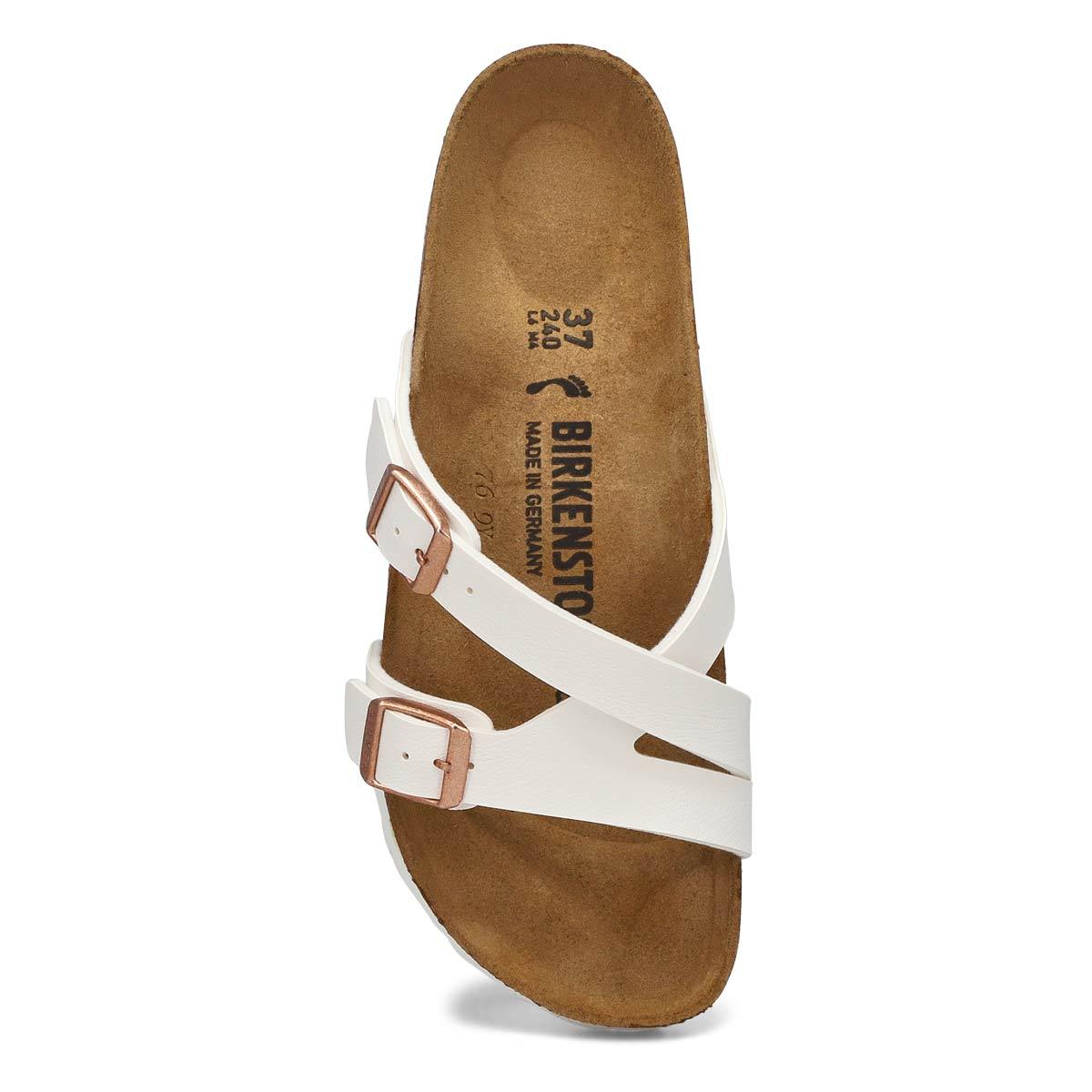 Lds Yao white 2 stap sandal-N