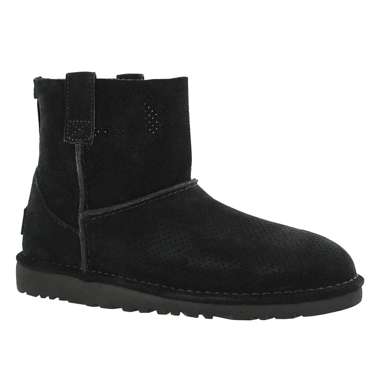 Lds Classic Unlined Mini Perf black boot