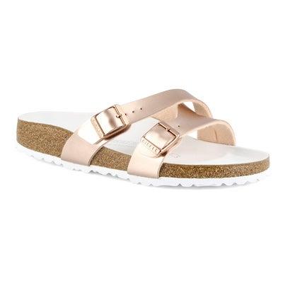 Lds Yao metallic copper 2 stap sandal-N