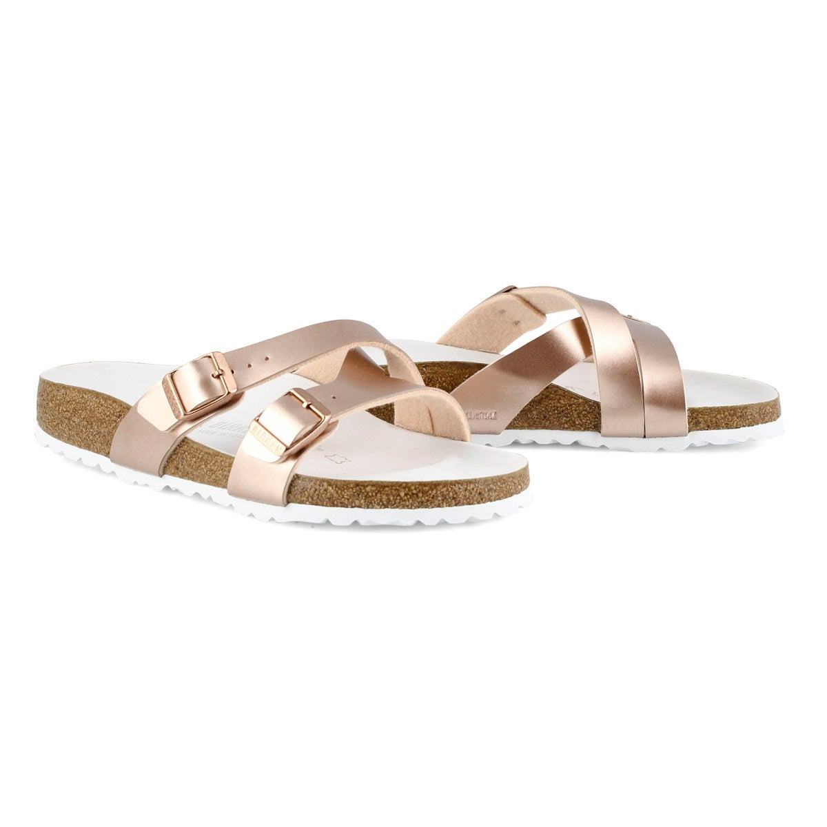 Lds Yao metallic copper 2 strap sandal-N