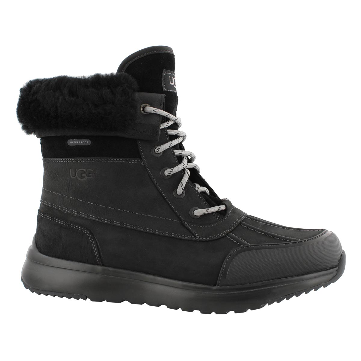 Mns Eliasson blk/blk lace up winter boot