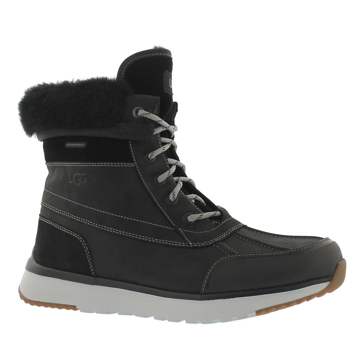 Men's ELIASSON black lace up winter boots