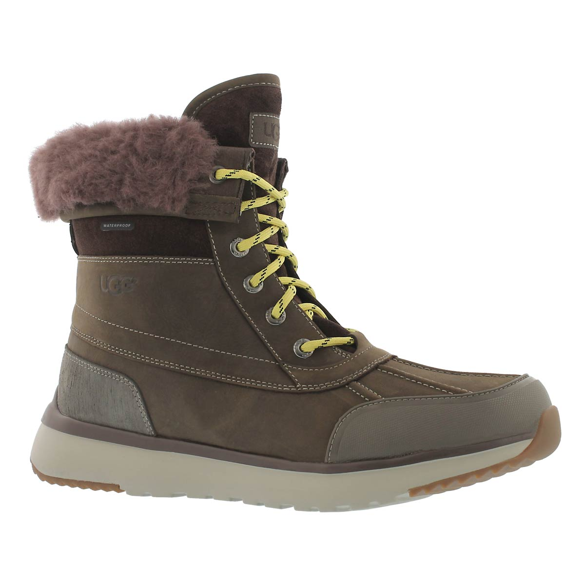 Men's ELIASSON slate lace up winter boots