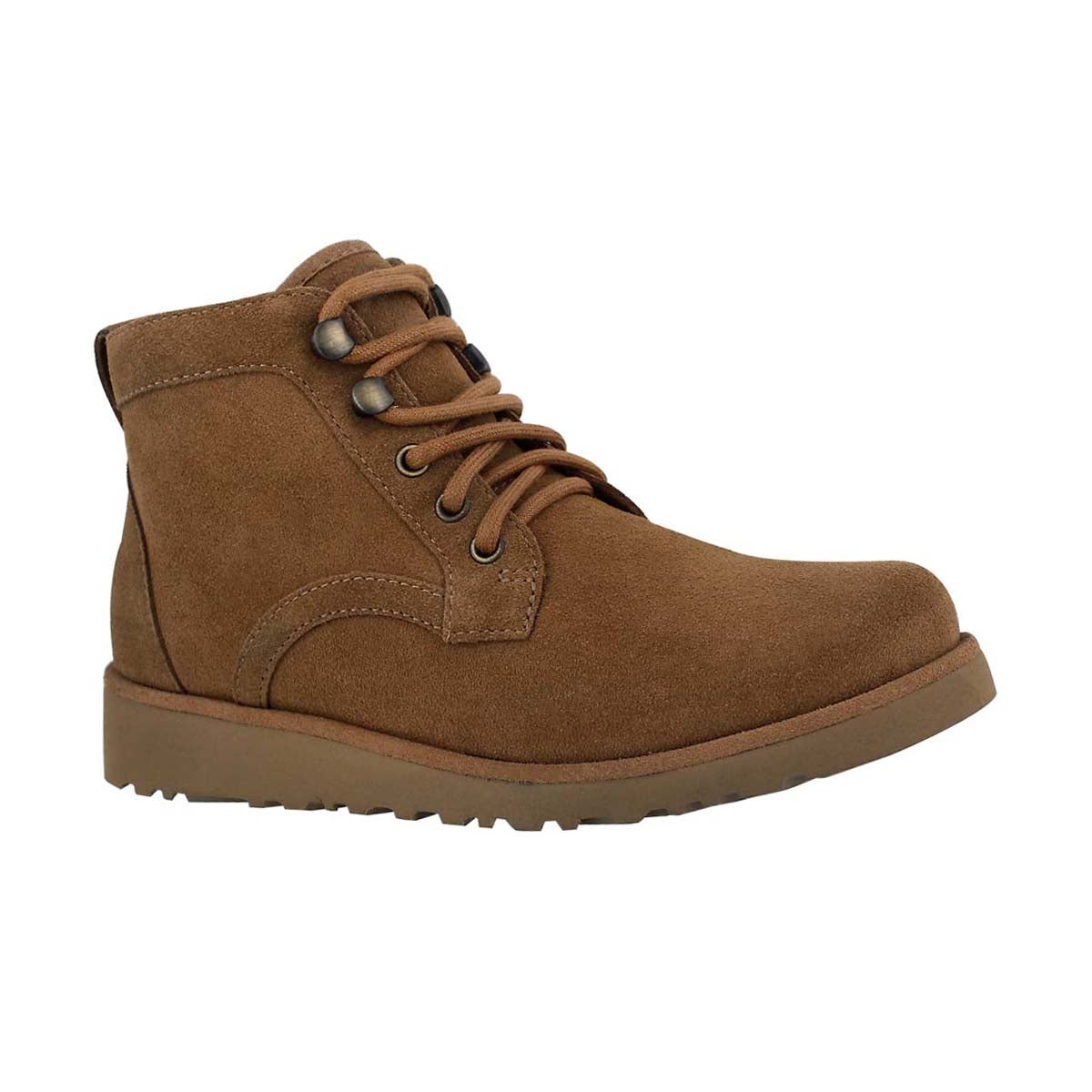 Girls' BANAN chestnut lace up ankle boots