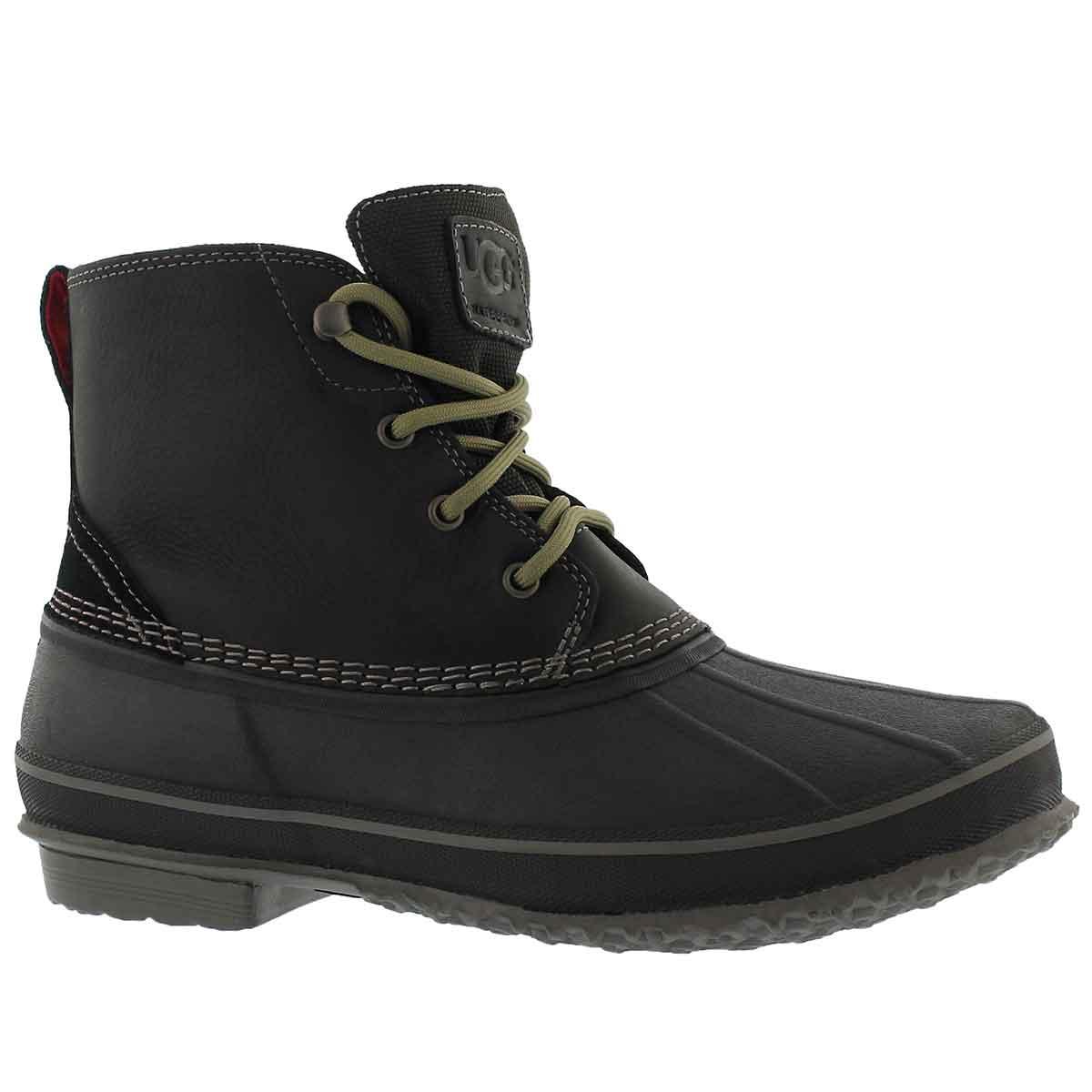 Mns Zetik black lace up wtpf ankle boot