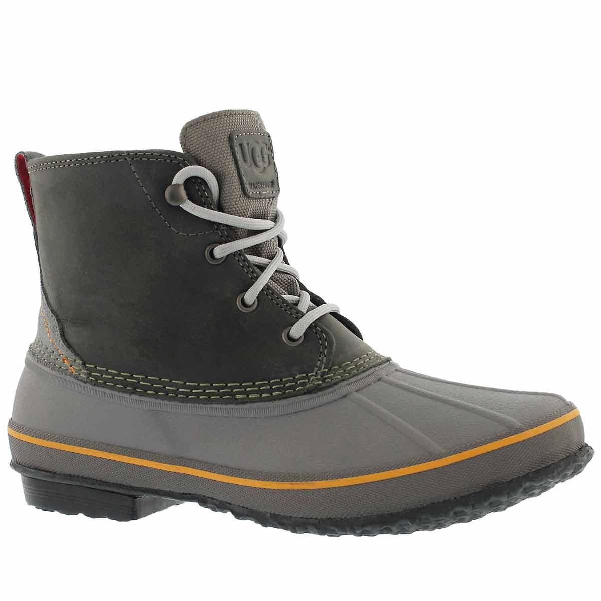 Men's ZETIK metal lace up waterproof ankle boots